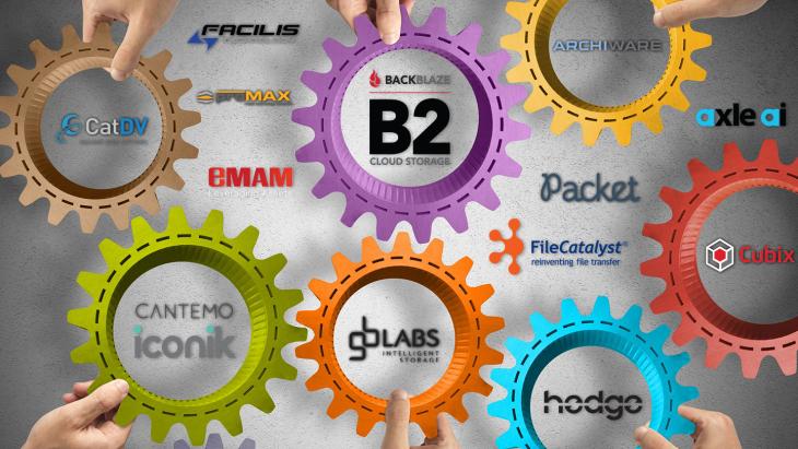 Backblaze partners working together at NAB 2019
