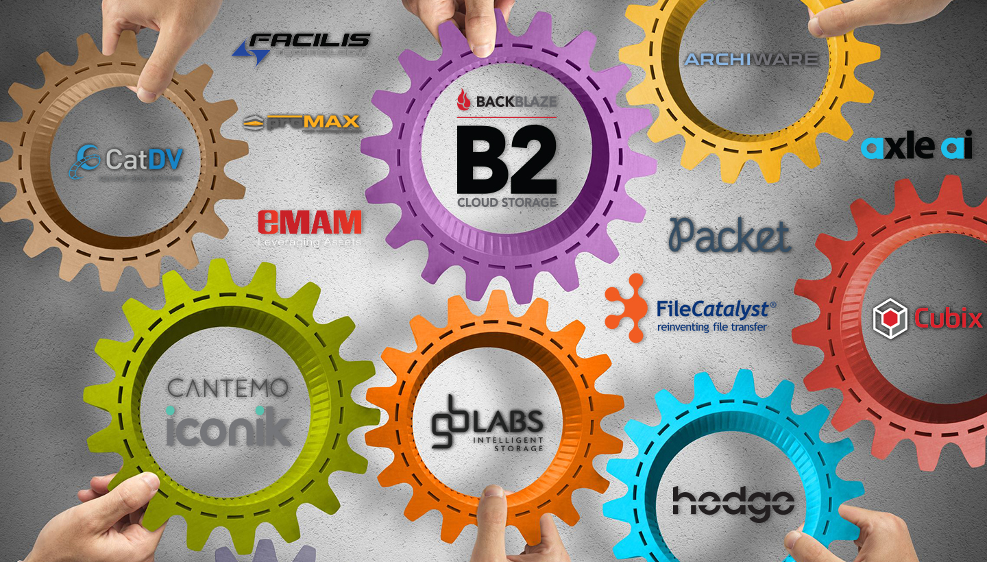 Collage of logos from Backblaze B2 cloud storage partners