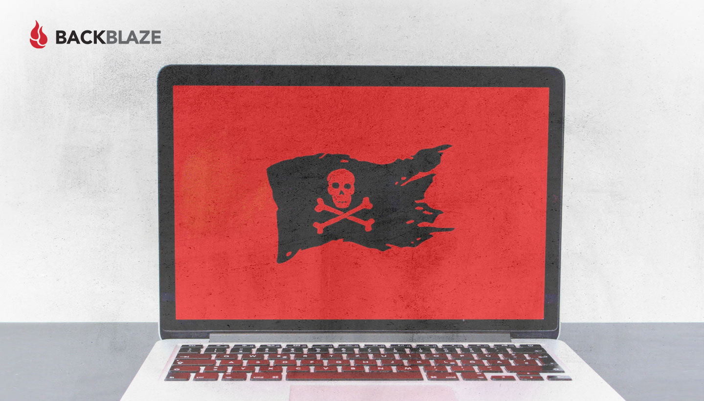 ransomware message on a laptop