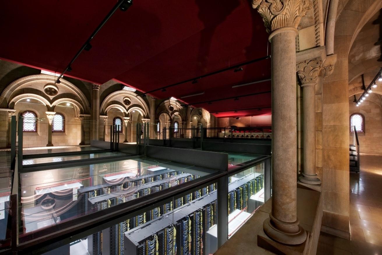 The Barcelona Supercomputing Center, home of the MareNostrum supercomputer