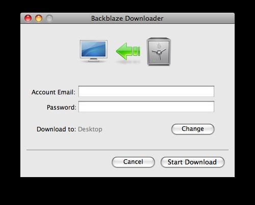 Restore Downloader Password