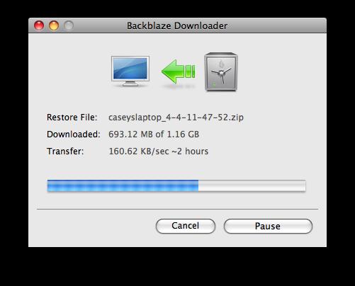 Restore Downloader Progress