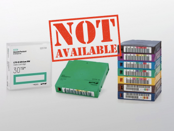 LTO-8 Tapes not available