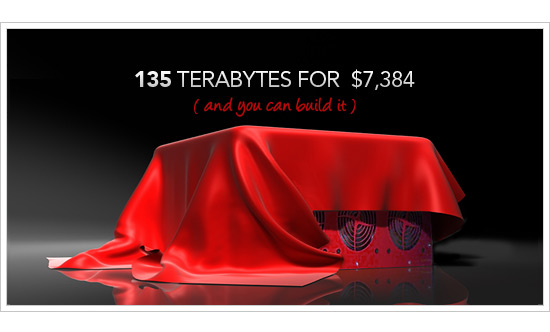 135 Terabytes for $7384