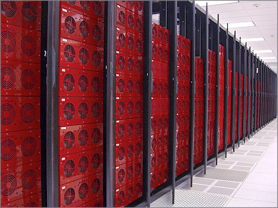 Backblaze Storage Servers in Datacenter