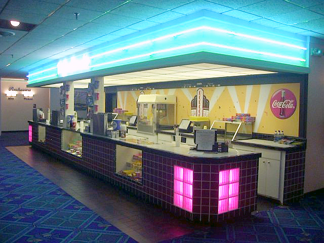 Movie theatre concession stand