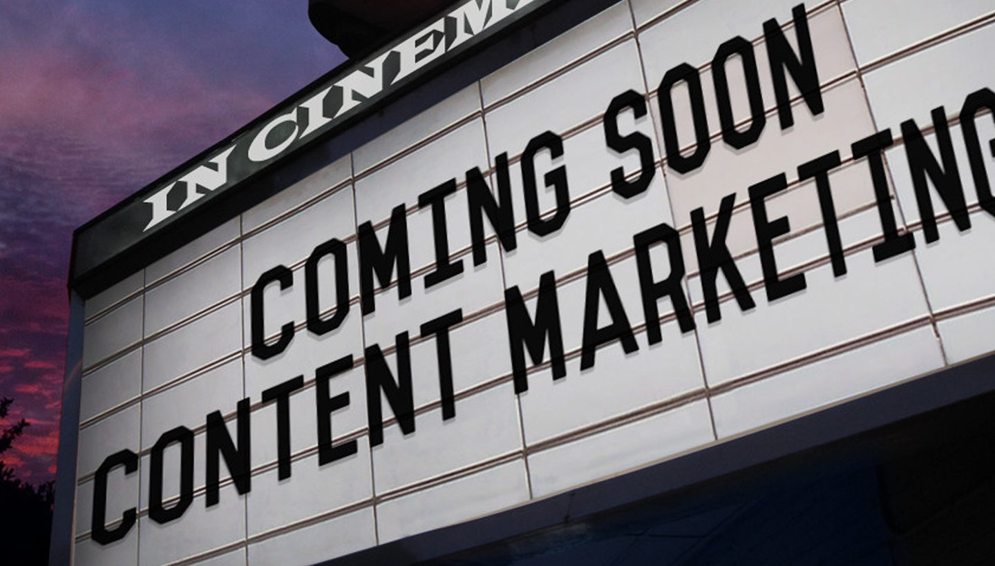 Content marketing marquee