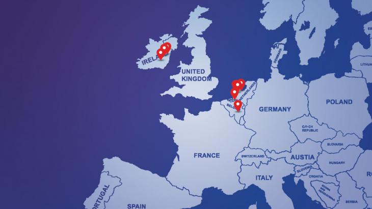 EU data center search map