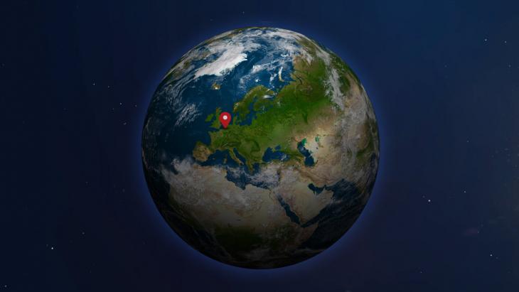 Globe with Europe