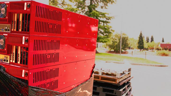 A pallet of Storage Pods