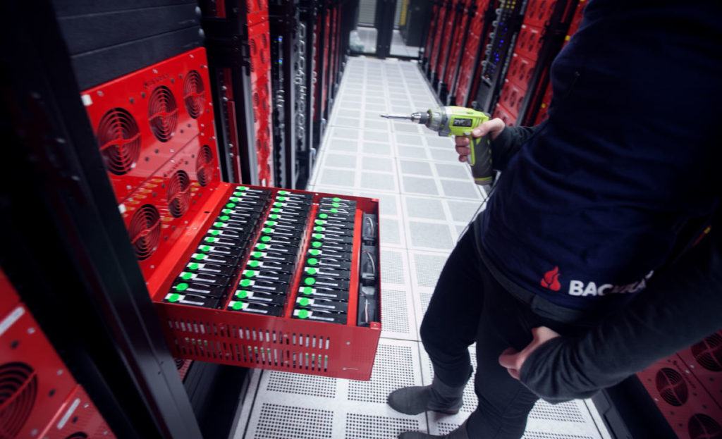 Storage Pod in Backblaze data center