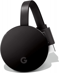 A Chromecast Ultra dongle