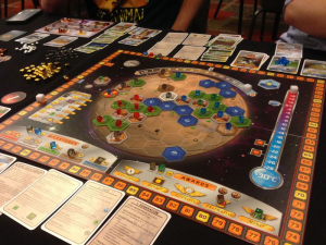 A Terraforming Mars game in progress