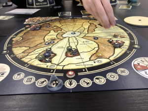 A Dune board game in progress