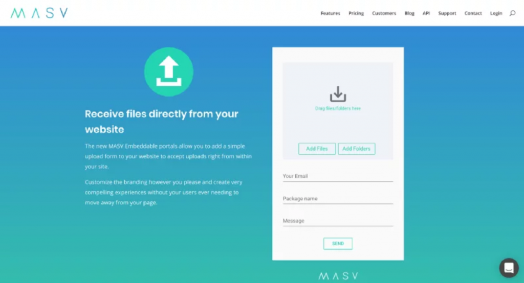 Share Files with MASV