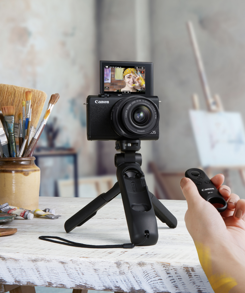 Using a tripod for videoconferencing