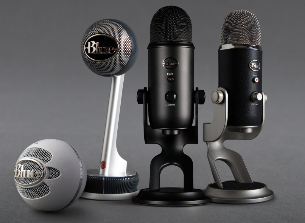 4 different podcast microphones