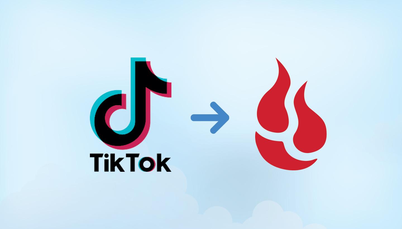 TikTok to Backblaze logos
