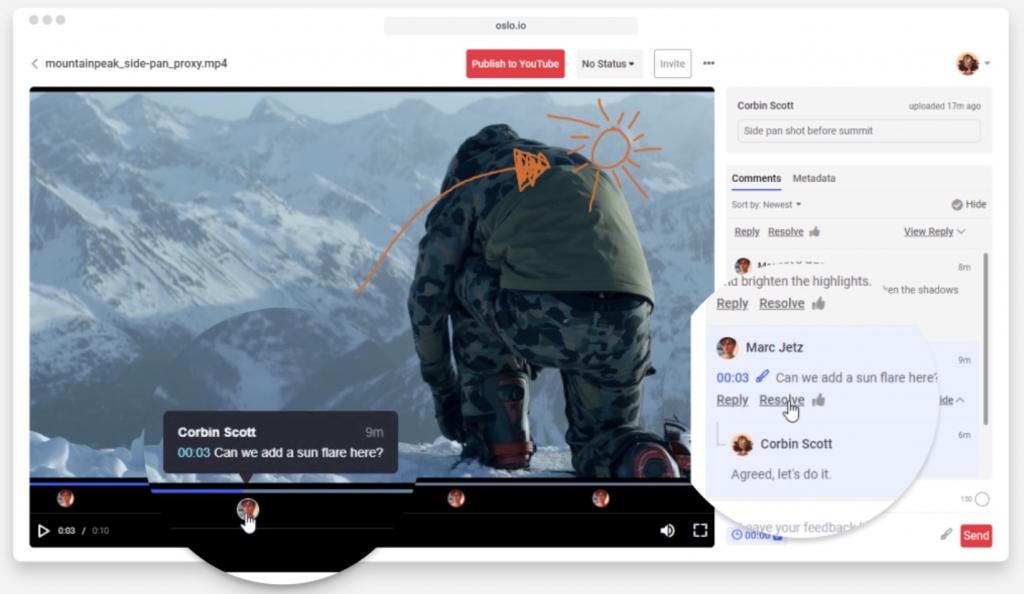 Oslo collaboration view screenshot
