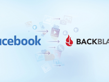 Facebook pointing at Backblaze Cloud