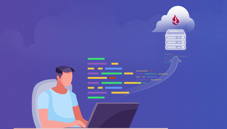 illustration of sending data to the Backblaze cloud