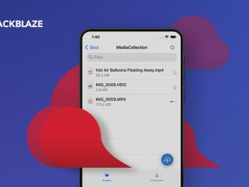 Backblaze mobile app screenshot