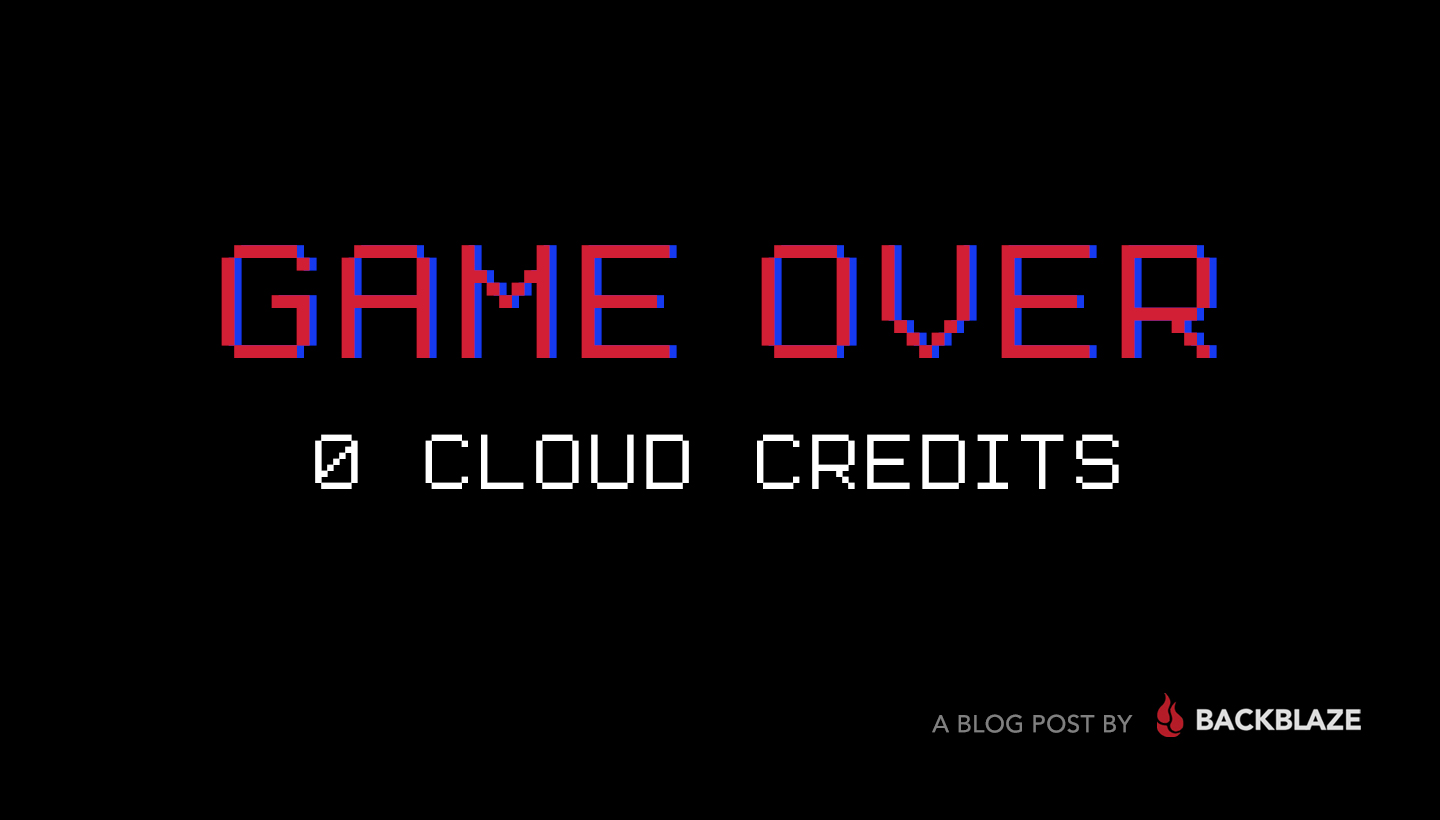 Game Over 0 Cloud Credits