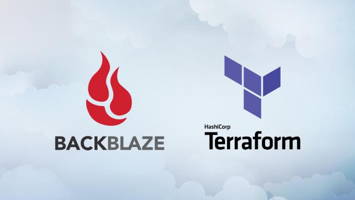 HashiCorp Terraform and Backblaze logos