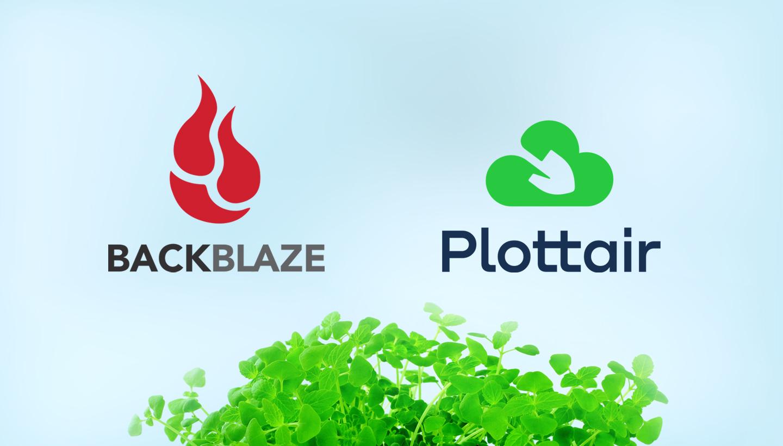 Backblaze and Plottair logos