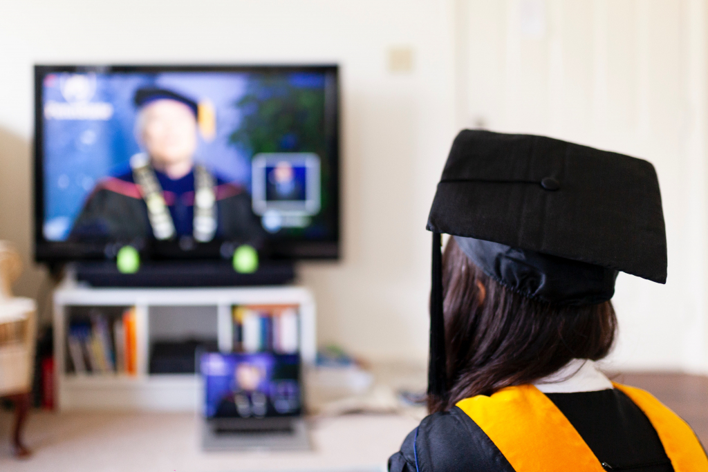 an online graduation ceremony