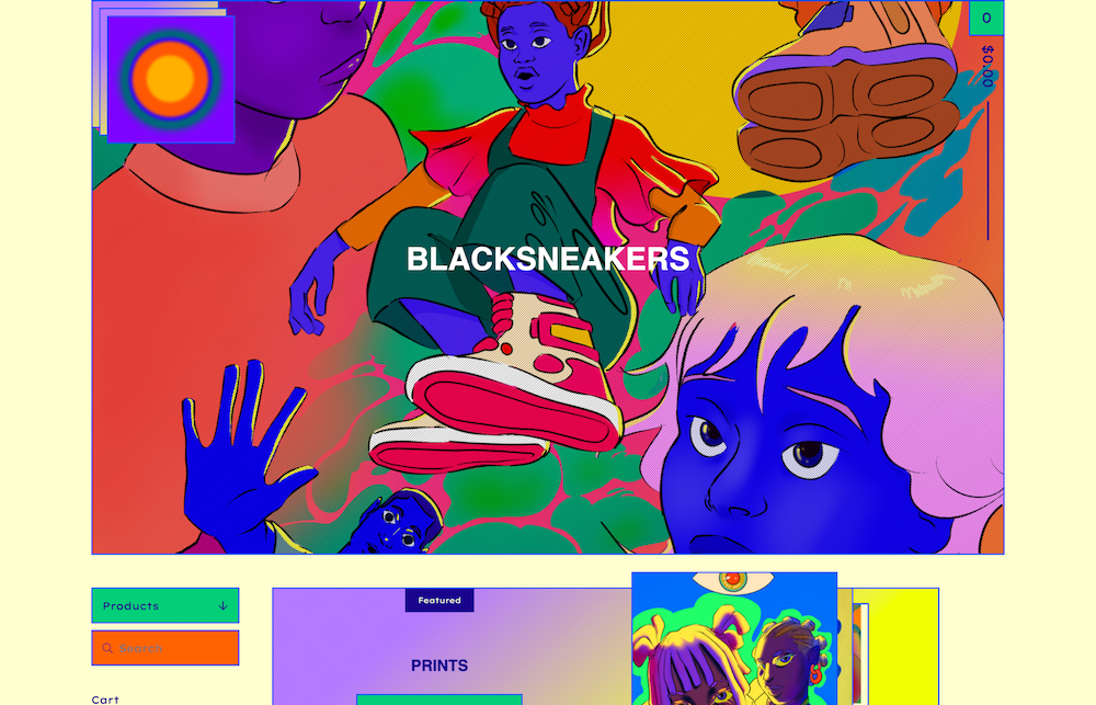 BLACKSNEAKERS illustration
