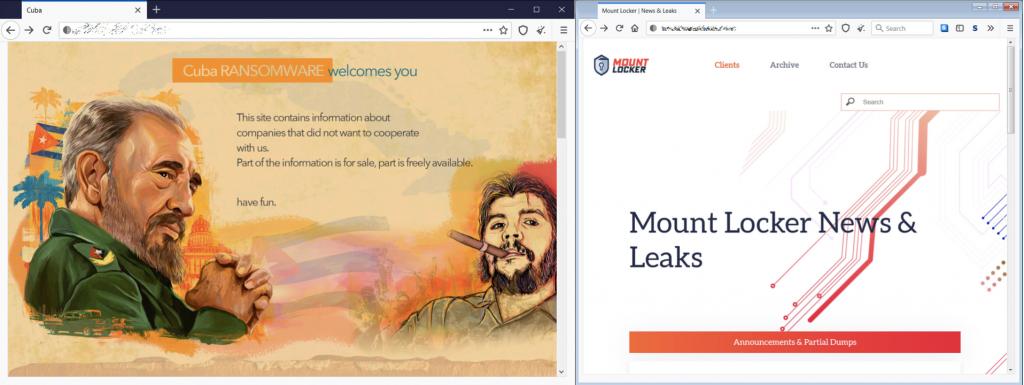 images of ransomware gang marketing