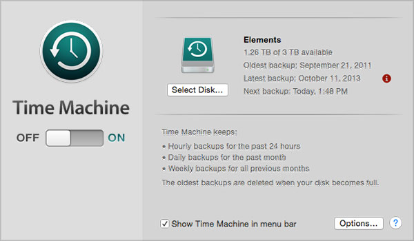 will time machine backup external drive