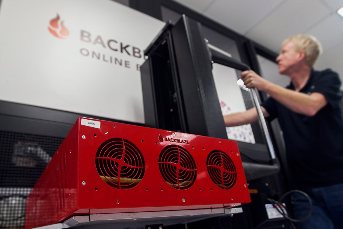 Backblaze Datacenter Lift